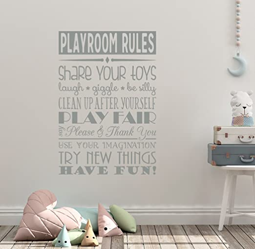 BE SILLY /& GIGGLE PLAYROOM NURSERY CHILDRENS QUOTE WALL ART STICKER DIY HOME