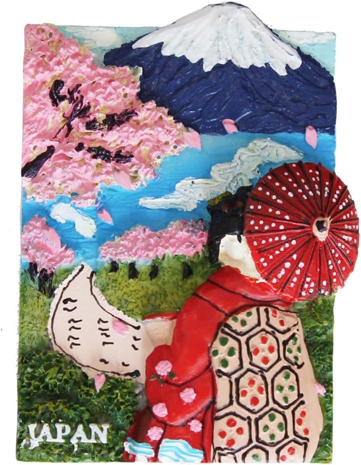 Japanese Maiko/Mt. Fuji/Sakura Design Magnet