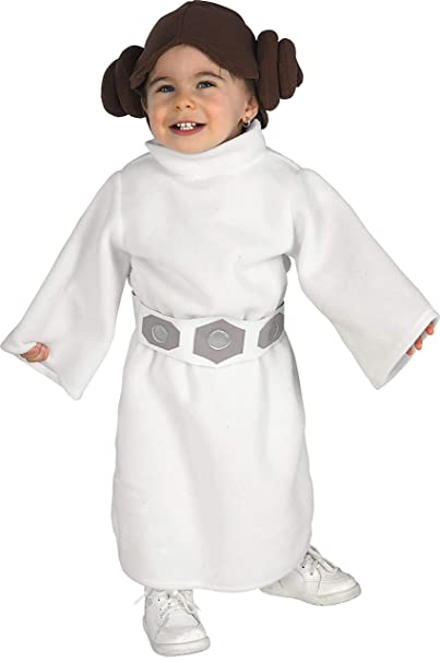 Amazon.com: Rubies Star Wars Princess Leia Pelele, blanco ...