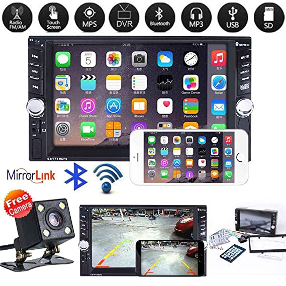 Amazon com: Egal Car 2 Din MP5 Player 7 Inch HD Touch Screen
