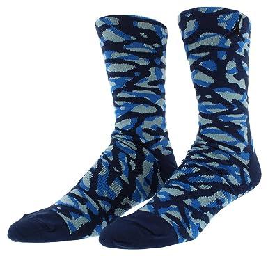 Nike Elephant Print Camo - Calcetines Baloncesto para Hombre, Color Azul/Negro, Talla