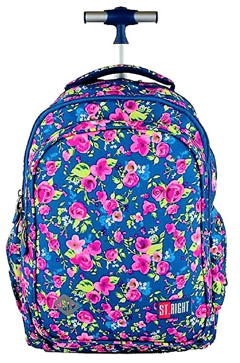 68e2cce074 St.Right Super Grande Zaino Trolley Scuola Media, Elementare Flowers Two  per Ragazza FEMMINA