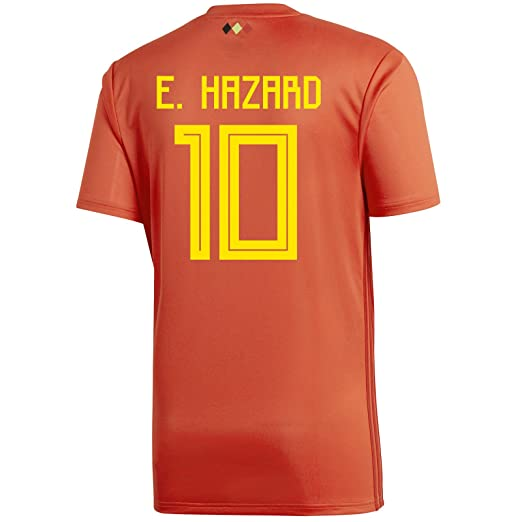 c092a704a E. Hazard  10 Belgium Home Youth Soccer Jersey World Cup Russia 2018 (YS