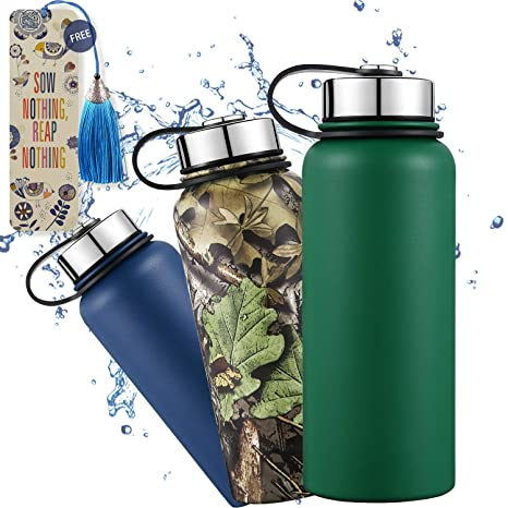 f4edef4d600 Dealz Frenzy Insulated Tumblers - Coffee Thermos Cups, Travel Mugs with  Lid, Double Wall Stainless Steel Wide Mouth Water Bottles, BPA Free, FDA,  ...