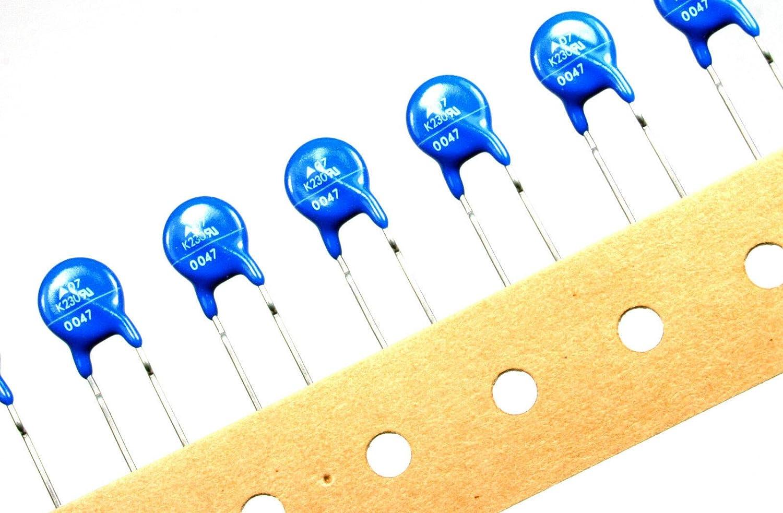 Ronxing 25pcs Epcos S07K230 MOV 230Vac 300Vdc 17J Metal Oxide Varistor