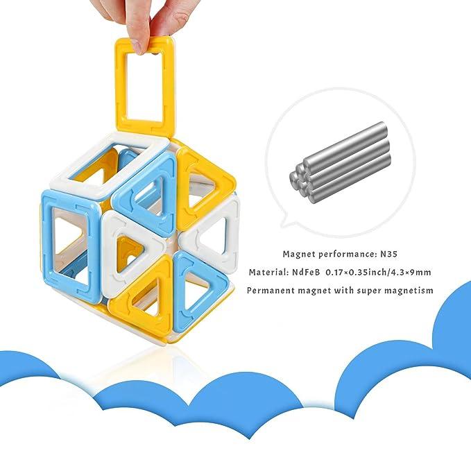 Peradix Bloques Juegos de Construcción Magnética Coloridas Magnéticas Juguetes Desarrollo de Imaginación Creatividad y Educación para Niños (40): Amazon.es: ...