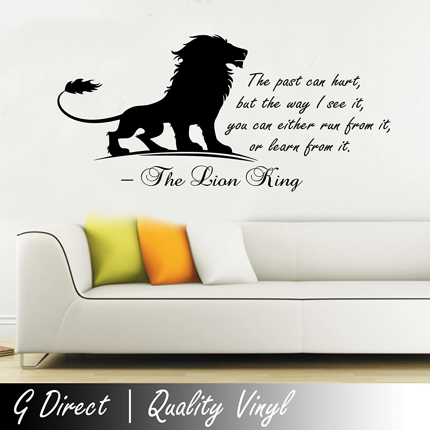 The lion king inspirational wall sticker quote kids bedroom the lion king inspirational wall sticker quote kids bedroom playroom home mural 100x55 amazon kitchen home amipublicfo Choice Image