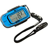 Ozeri 4x3razor Pocket 3D Pedometer and Activity Tracker with Bosch Tri-Axis Technology from Germany, Blue