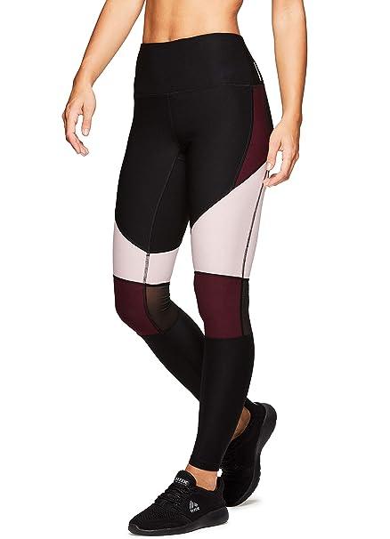 ba98baaa3b2e1 Amazon.com: RBX Active Women's Mesh Workout Yoga Fashion Leggings: Clothing
