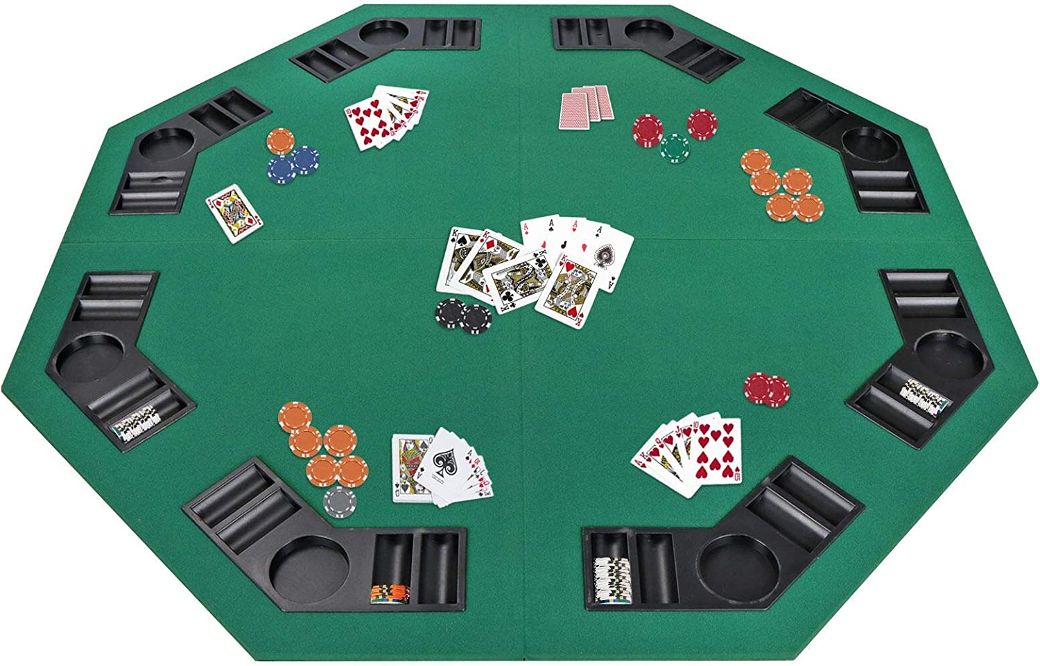 Amazon Com Smartxchoices 48 Folding Poker Table Top Octagon
