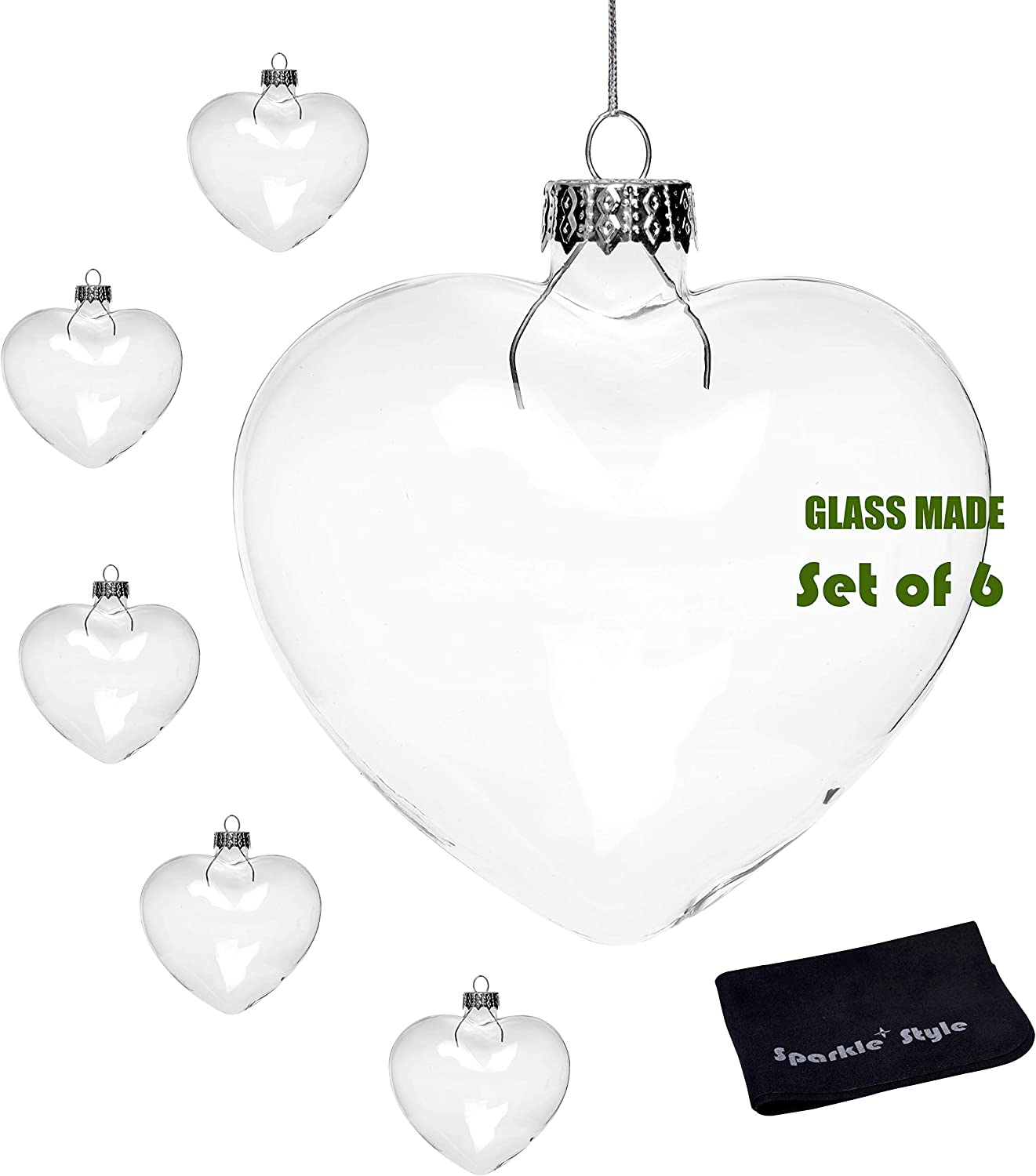 """CLEAR Plastic Heart Shaped FAVORS BOXES 5/"""" Wedding Party Decorations Wholesale"""