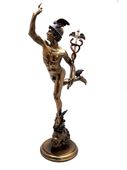 Hermes Flying Mercurio Romano Dios Estatua De La Escultura Figura De