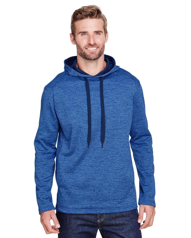 N4103 A4 Mens Tonal Space Dye-Tech Fleece Hoodie