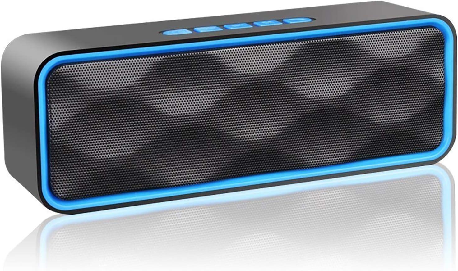 Aigoss Altavoz Bluetooth Portátil Inalámbrico Estereo Exteriores con Audio HD Altavoz de Doble Controlador Integrado, Bluetooth 4.2, Llamadas Manos Libres y TF Tarjeta, Azul