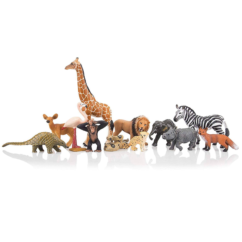 Animal Kingdom Wild Life set of 2 Elephant Action Figures Realistic Details