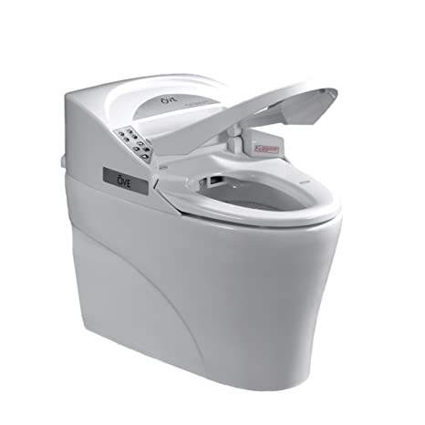 Awesome Ove Decors Smart Toilet Single Flush System And Heated Seat With Remote Control White Machost Co Dining Chair Design Ideas Machostcouk
