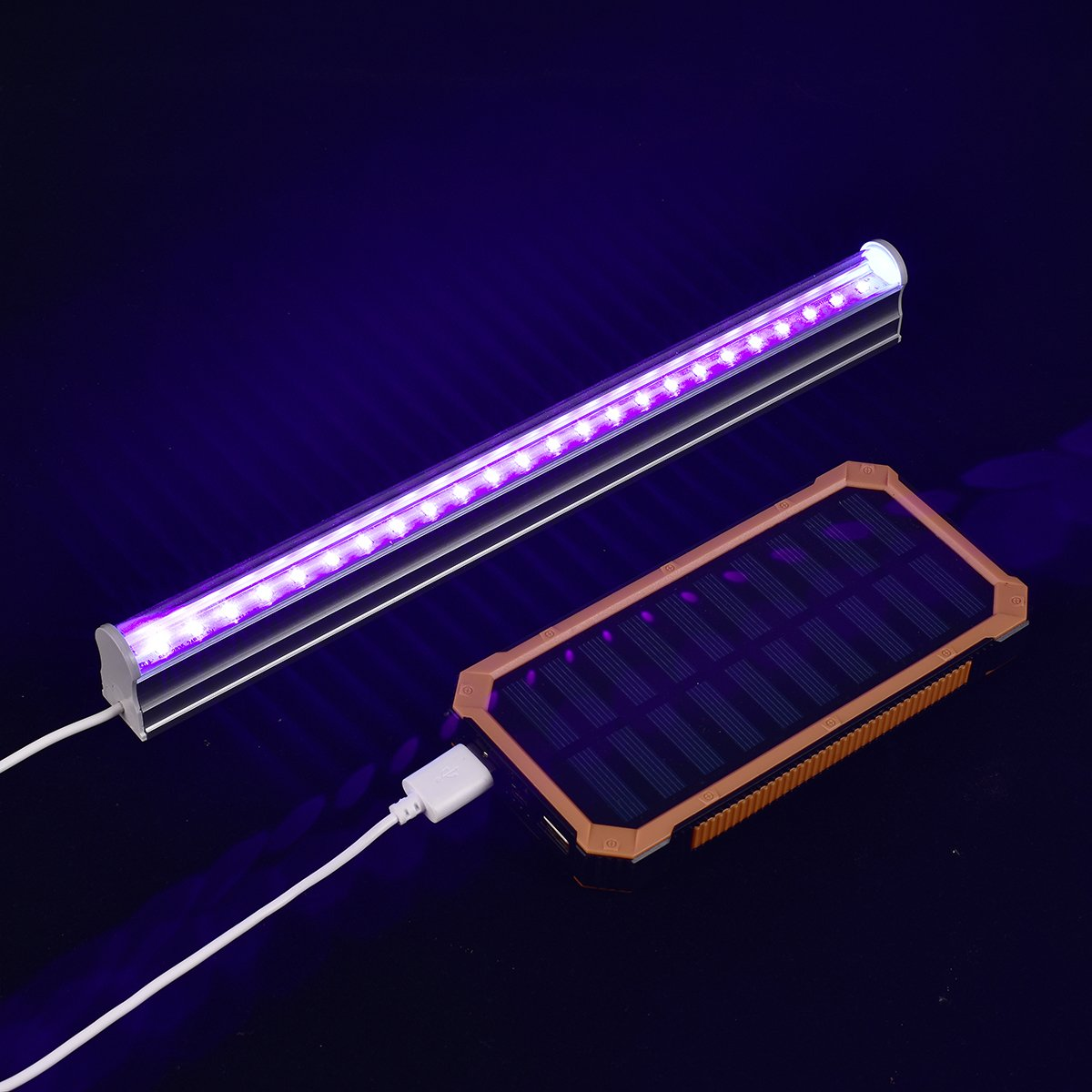 Uv Led Black Light Fixtures Leciel 6w Portable Blacklight Lamp For Poster Art Ultraviolet Curing Authentication Currency Or Stain Detector