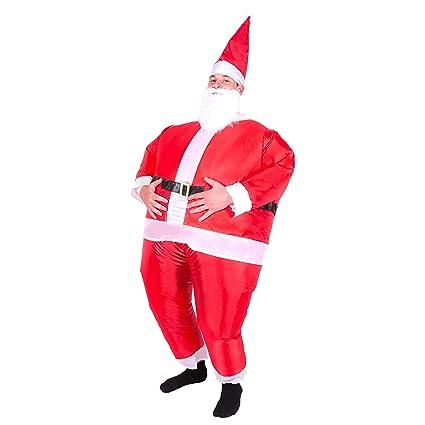Bodysocks® Disfraz Hinchable de Papá Noel Adulto: Amazon.es ...
