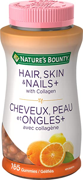 Nature S Bounty Hair Skin And Nails Contains Biotin And Collagen Helps Maintain Health Of Normal Hair And Skin 165 Gummies