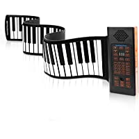 KPP 88-Key Roll-Up Portable Piano Keyboard with Bluetooth