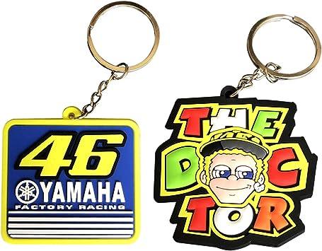 3 RUBBER YAMAHA MOTORCYCLE KEYCHAIN KEY RING