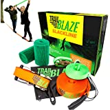 Trailblaze Slackline Kit with Training Line + Tree Protectors | Perfect Slack Lines for Kids Healthy Outdoor Fun | 50 Feet Easy Set-up Slacklines Family Adults Children