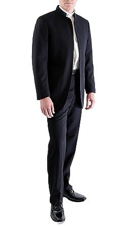 e3e95b693 Ferrecci Mens Satin Mandarin Collar 2pc Tuxedo - Slacks & Jacket at Amazon  Men's Clothing store: