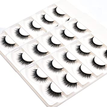 1709d9548ae Amazon.com : Wleec Beauty 3D Silk Eyelashes Handmade False Eyelash Pack  Natural Crisscross Lashes #3D/F41 (15 Pairs/3 Pack) : Beauty