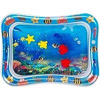 Cojín de Agua Inflable Bebé, Baby Water Pad Alfombra de juego Inflable del Agua Inflable Tapete de Bebés Estera de Agua de PVC Entretenimiento de Agua y la Estimulación del Crecimiento de Bebé