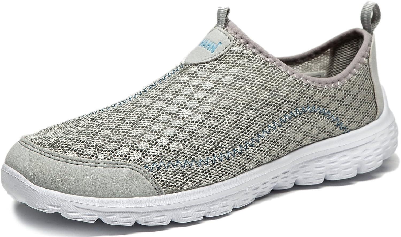 Hombre Zapatos Casuales Amortiguadores Zapatilla Deportiva Ligero Caminar Gimnasio Corriendo Malla Ligero Deporte Entrenadores 40 EU,6 UK,Gris