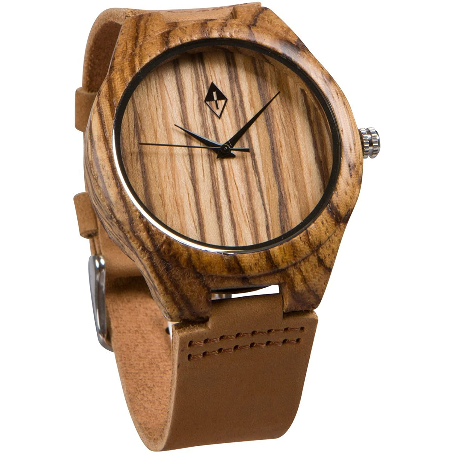 zebrawood minimalist rosegold products wood original grain watches