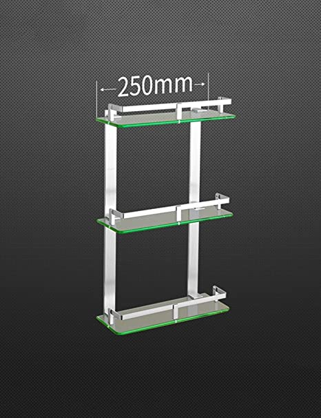 Brilliant Xiaolin Space Aluminum Three Layer Glass Shelf Shower Download Free Architecture Designs Scobabritishbridgeorg