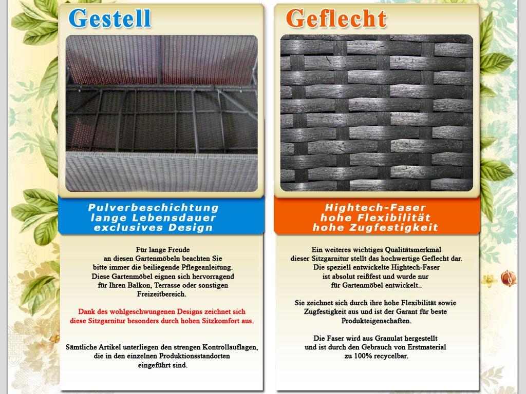 Lounge sofa outdoor günstig  Amazon.de: XINRO XXXL 25tlg. Polyrattan Gartenmöbel Lounge Möbel ...