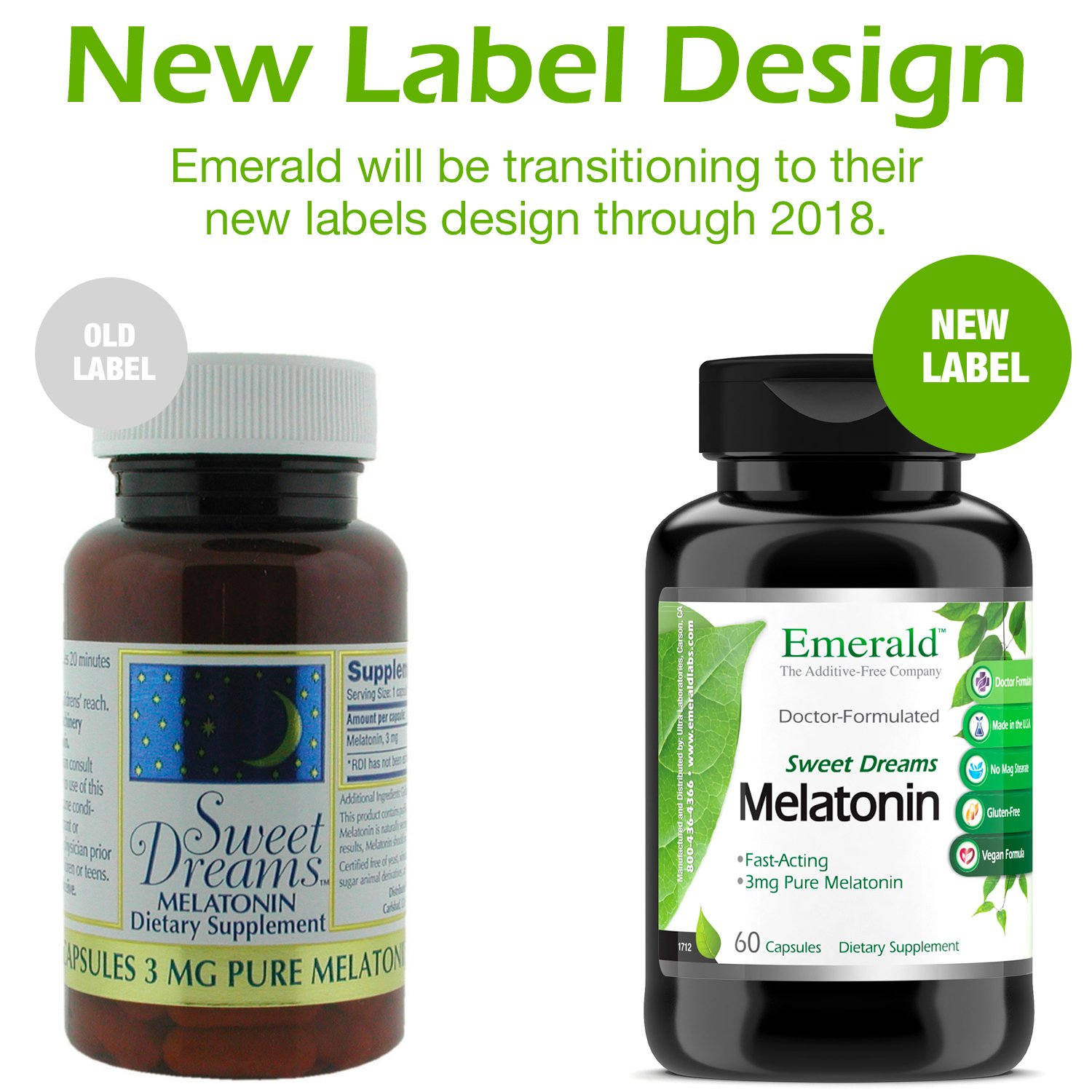 Amazon.com: Melatonin (3 mg) - Promotes Relaxation & Healthy Sleep Patterns, More Energy, Better Overall Health - Emerald Laboratories (Sweet Dreams) - 60 ...