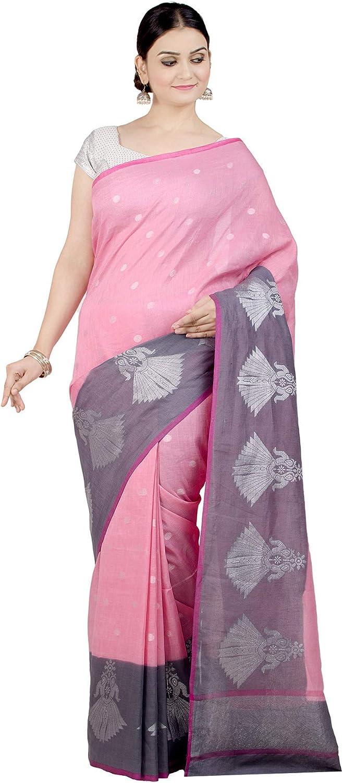 Beautiful Linen Saree Women Handmade Print Linen Sari /& Blouse Piece-Shipp Free