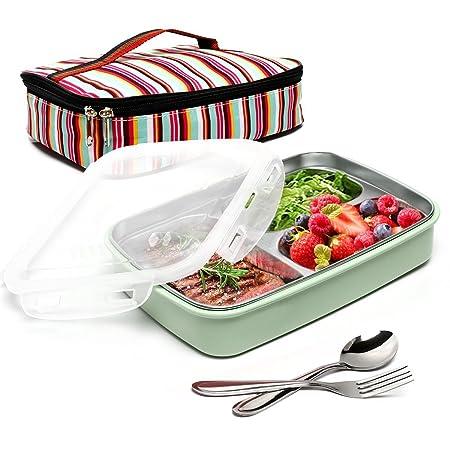 boqun rectangular caja de almuerzo de acero inoxidable a prueba de ...