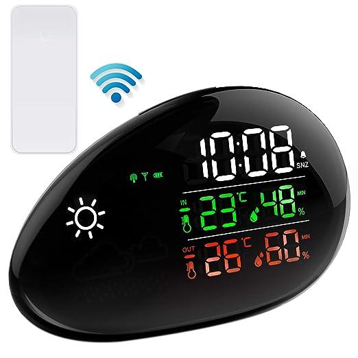 TinMiu - Reloj Despertador Digital con Pantalla LED para ...