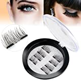 Amazon Price History for:New Dual Magnetic False Eyelashes - 2 Pairs (8 Pieces) Ultra Thin 3D Fiber Reusable Best Fake Lashes