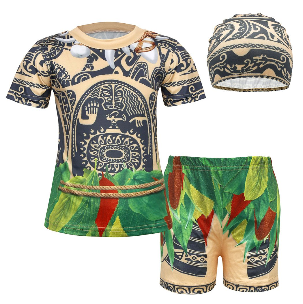 AmzBarley Maui Little Boys' 2 Piece Swimwear Bathing Suit Age 5-6 Years Size 8