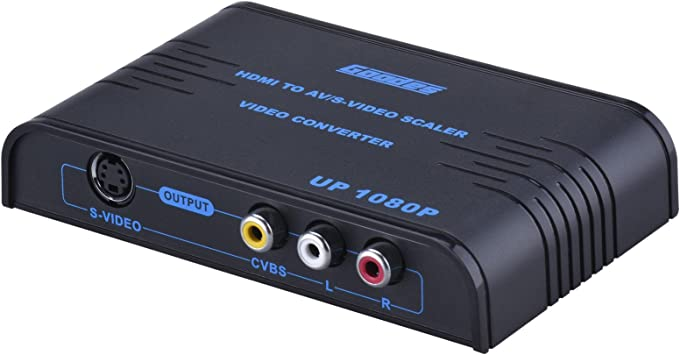 Goodes HDMI a RCA S-Video Compuesto AV convertidor con R/L Salida de Audio apoyo PAL/NTSC AV adaptador para PC portátil Xbox PS3 PS4 Cámara Blue-ray DVD Apple TV 4 roku: Amazon.es: Electrónica