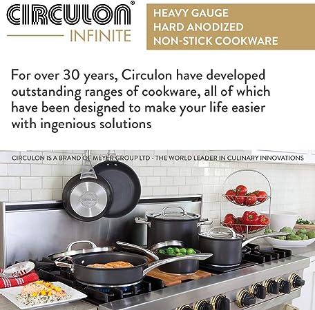 Circulon Infinit/é 80962 Wok Aluminium Anodis/é 36 cm