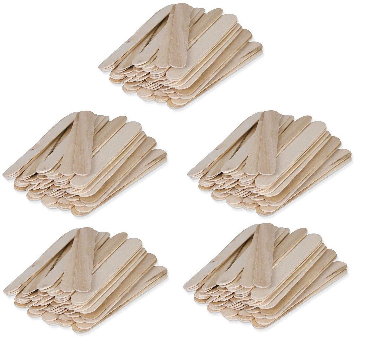 Large Wood 5 7/8 x 11/16 Wax Applicator Stick 250ct WW-W150A (5 Pack of 50ct)