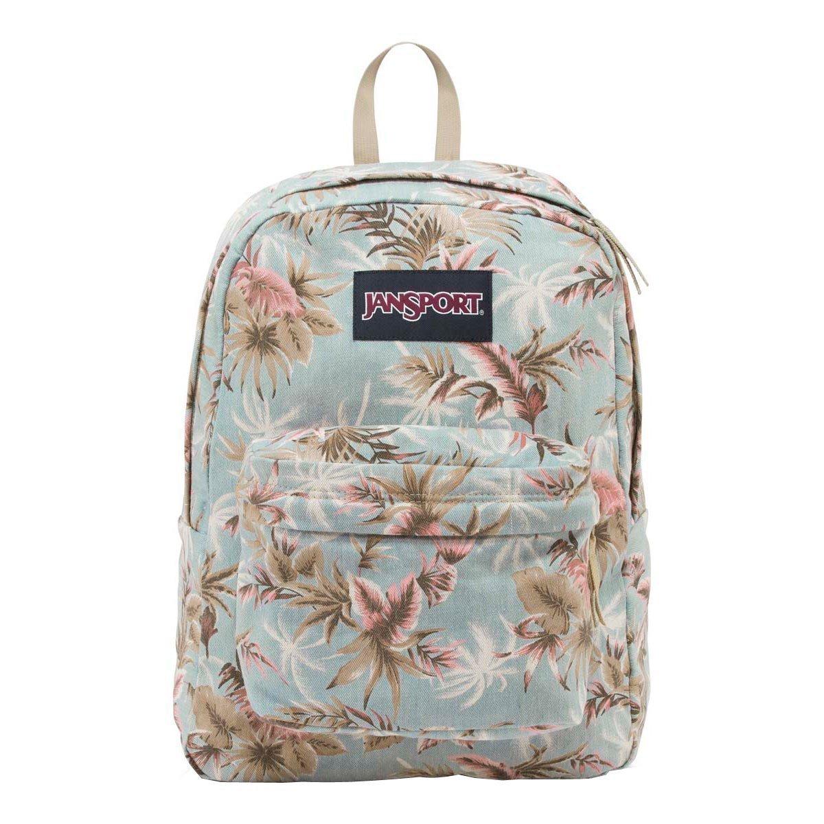 Amazon.com: JanSport Womens Classic Specialty Super FX Backpack - Multi Palm Denim / 16.7H X 13W X 8.5D: Computers & Accessories