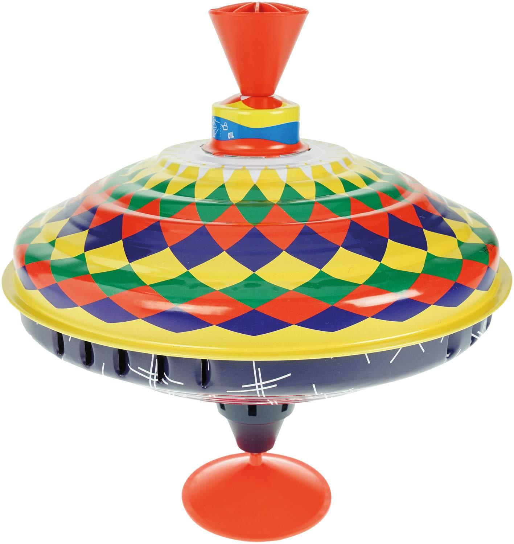 Blechkreisel mit farbenfrohen Motiv Spielzeugkreisel f/ür Kinder ab 18m+ Schwungkreisel aus Blech bunt Lena 52225 Bolz Brummkreisel Multicolor 19 cm klassischer Pumpkreisel Kreisel mit Standfuss