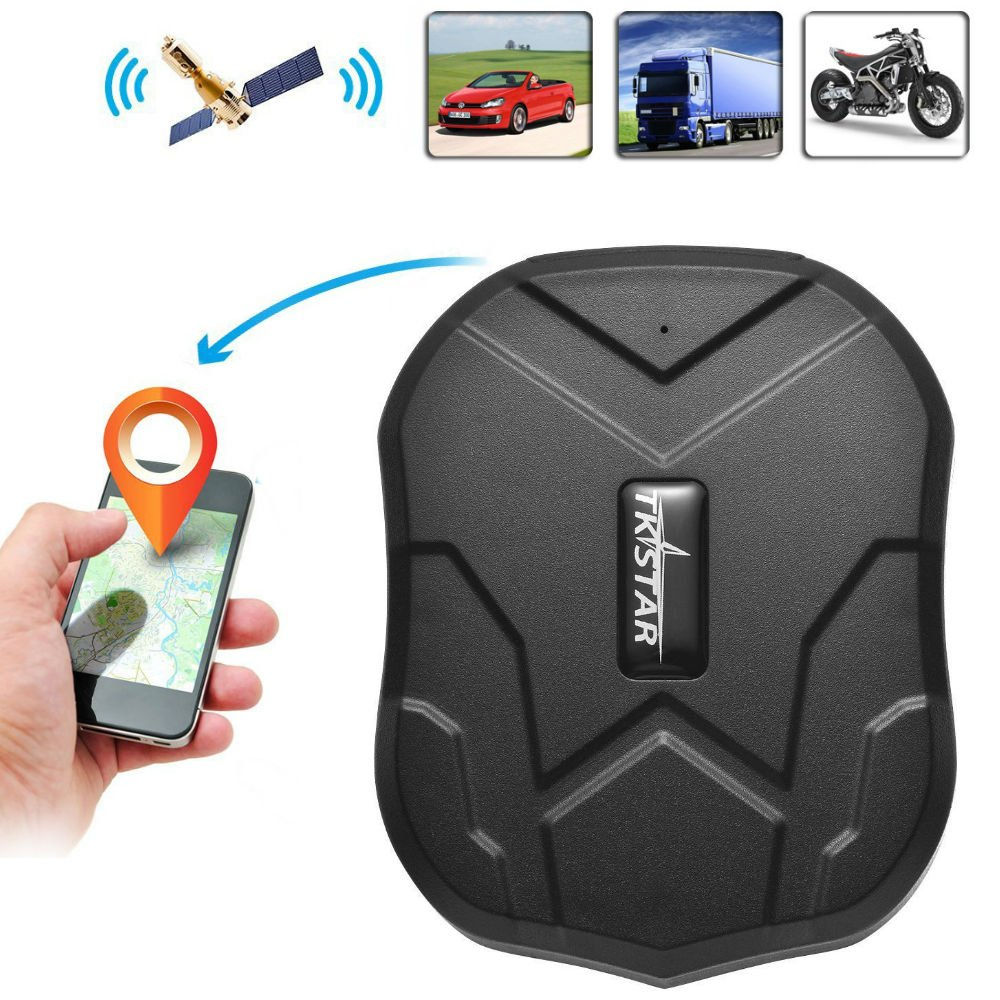 TKSTAR GPS Tracker with Strong Magnet for Car/Vehicle/Van Truck Fleet Management GPS Locator Realtime Accurate Location Device Waterproof 90 Days Long Standby Remove Alarm Free Tracking Platform TK905
