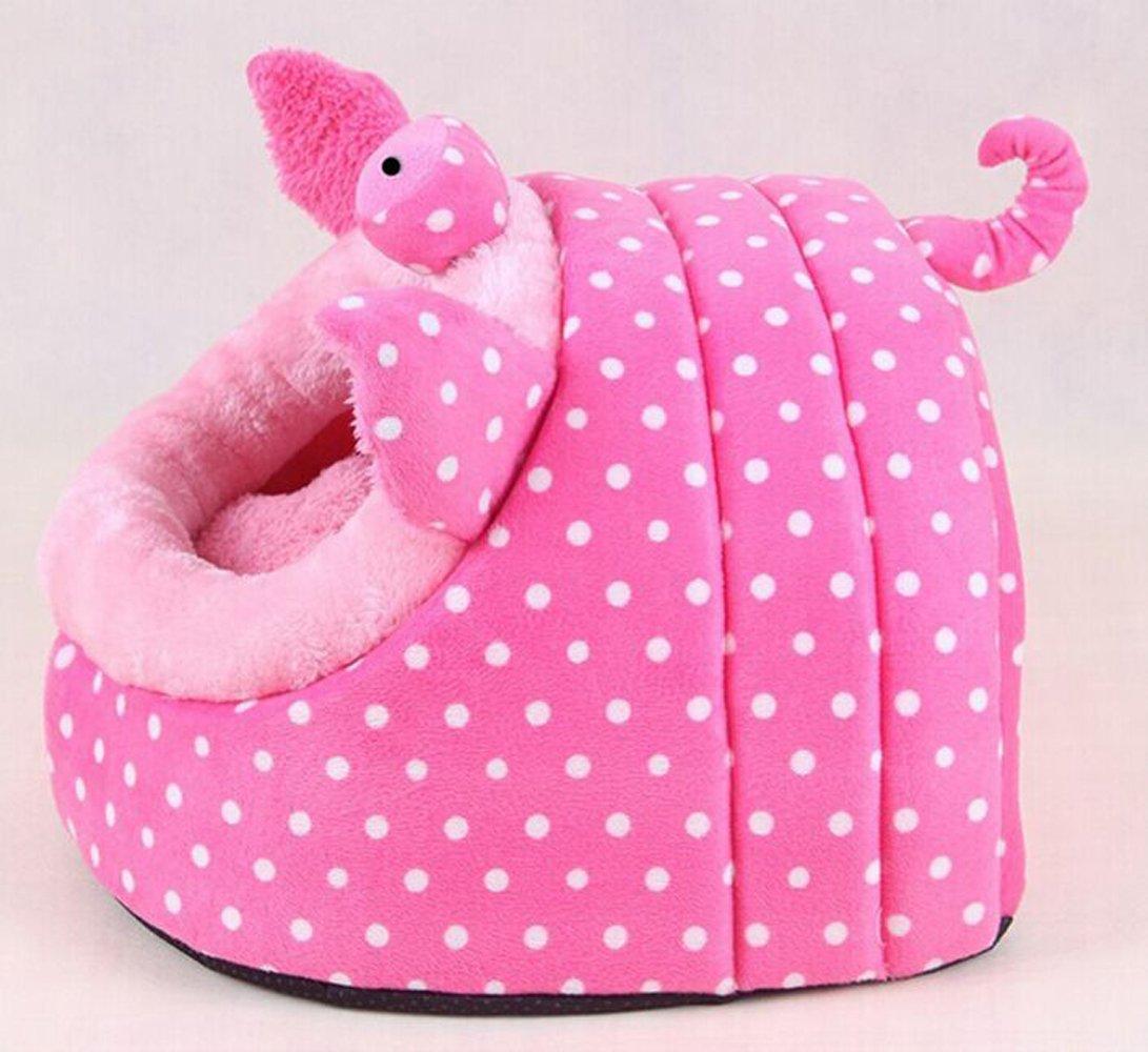 Cute Animal Design Comfortable Indoor House Bed Puppy Kitten Pet Dog Cat Nest Pad Soft Fleece Bed