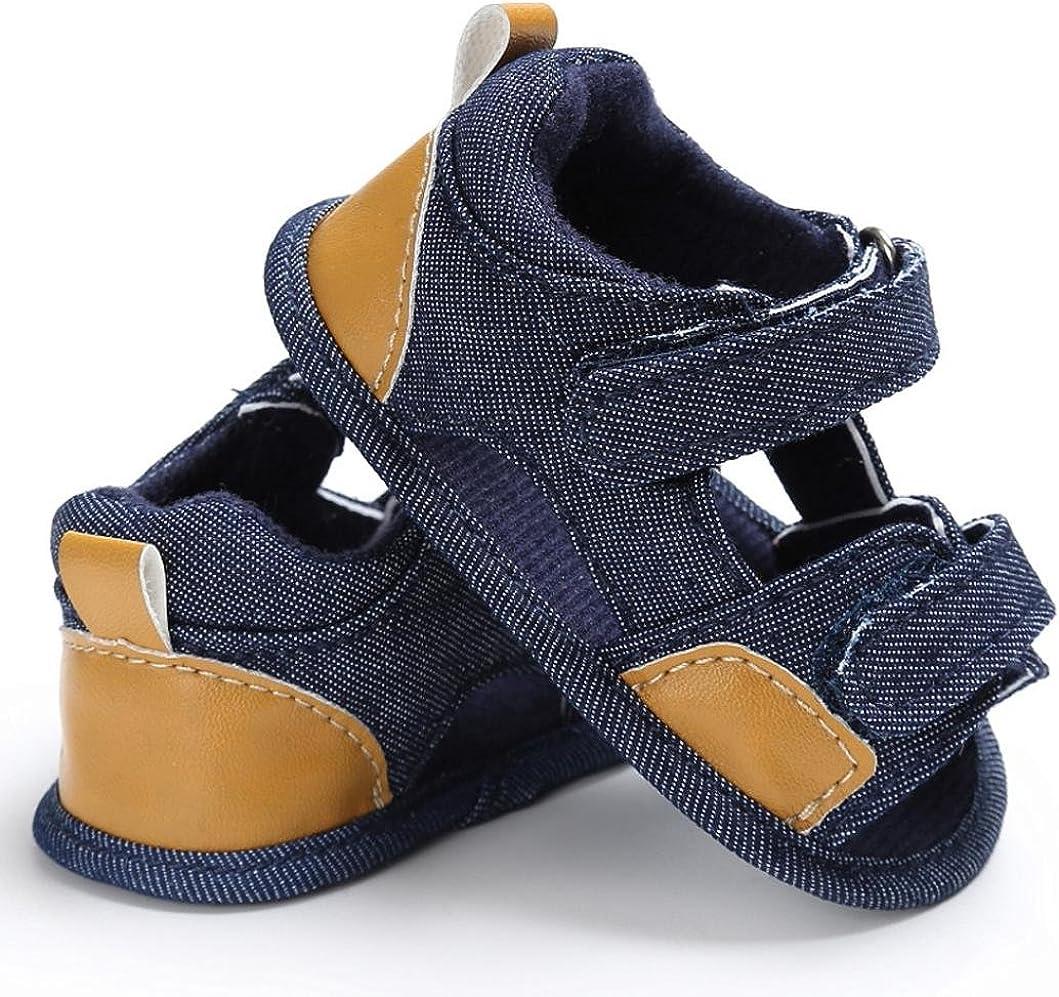 0~12 Mois Toile Chaussures de B/éb/é Sandales,LuckyGirls Mode /Ét/é B/éb/é Gar/çons Sandales Anti-D/érapante Doux Unique Toddler Sneaker Semelle Souple Chaussures