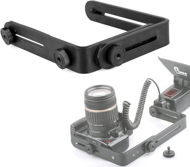 Upgraded Version LFJNET L-Shaped Double Metal Bracket Holder Mount for Canon Nikon Camera Speedlite Flash