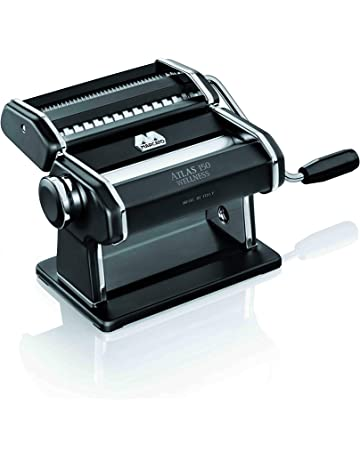 Marcato Atlas máquina de pasta, acero inoxidable, plata, incluye pasta Cutter, a