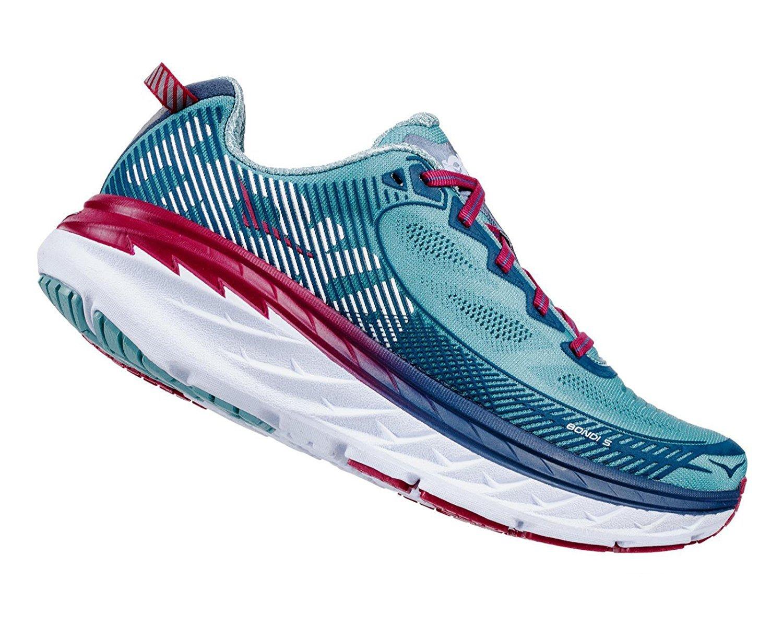 HOKA ONE ONE Women's Bondi 5 Running Shoe B0711TPP3Y size 9|Aquifer/Vintage Indigo